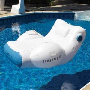 The 20-watt Stereo Pool Lounger - Now you can stream your favorite music as you recline afloat