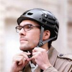 The Foldaway Bicycle Helmet - folds easily for easy storage in a backpack or purse