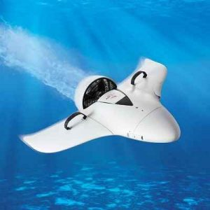 The Underwater Scooter - A winged Vehicle that propels a swimmer on the surface and underwater