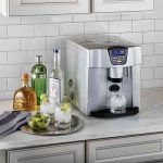 The Non-Plumbed Ice Maker Water Dispenser - makes fresh ice cubes and dispenses water without requiring a plumbing installation