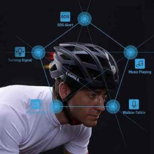 The Wireless Turn Signal Tail Light Bike Helmet - with integrated turn signals and tail lights operated wirelessly from a handlebar switch