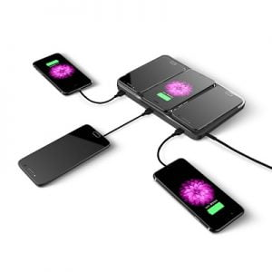 The 6 Device Wireless Charging Station - wirelessly charges tablets, smartphones and other electronic devices effectively
