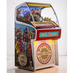 The Sgt. Pepper's Vinyl Jukebox - A one of a kind jukebox that holds 70 records and plays both A and B sides