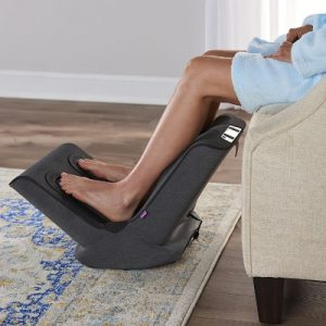 The Triple Therapy Foot And Calf Massager - provides pain relief, improve circulation and sooth muscles in the feet and calves