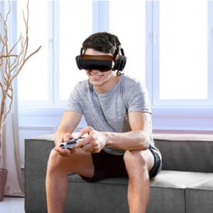 The Wearable Virtual Cinema - a video headset that connects to any device to provide a fully immersive movie viewing experience