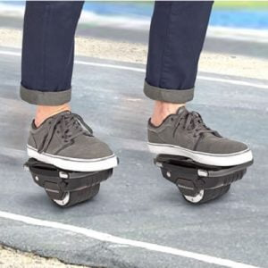 The Easy Ride Hoverboard Skates - A self-balancing skates that combine the functionality of traditional roller skates with the operation of a hoverboard