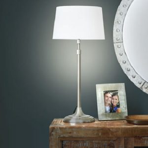 The Perfect Height Floor Lamp - It telescopes to provide the perfect height for use as a table or floor lamp