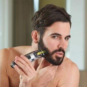 The Messless Beard Trimmer with Built-in Vacuum - A beard trimmer that collects hair as it cuts