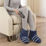 The Massaging Heated Therapy Booties - with built-in compression, vibration massage, and heat for a soothing and therapeutic foot treatment