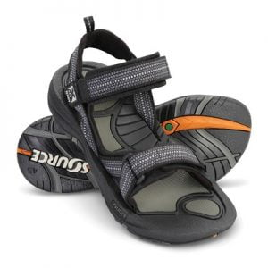 The Technologically Advanced Sports Sandals - with treads on both the foot bed and the outer sole for sure footing when walking or hiking