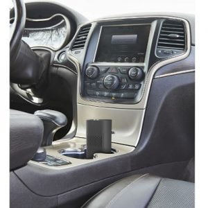 The Car Air Purifying Ionizer - fits securely to your car's cup holder to provide constant flow of clean air