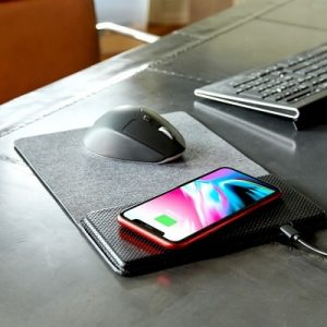 The Smartphone Charging Mouse Pad - A mouse pad and a wireless charger for smartphone or other device