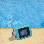 The Waterproof Speaker Tablet - A waterproof Bluetooth speaker with a built-in tablet screen
