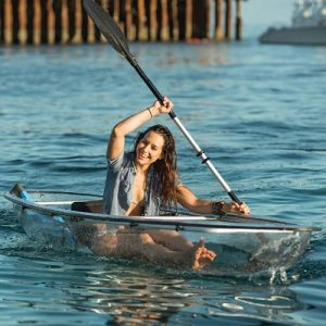 The Two Person Transparent Canoe Kayak - A hybrid lightweight watercraft perfect for underwater vista