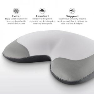 Snore Reducing Memory Foam Pillow - holds your head at the correct angle during sleep to minimize snoring