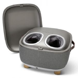 Hidden Heated Foot Massager Ottoman - with concealed massager design to help rejuvenate tired feet