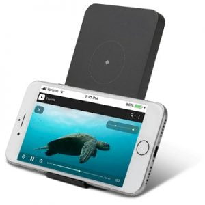 The Wireless Charging Phone Stand -  A wireless charging dock that powers a Qi wireless enabled smartphone