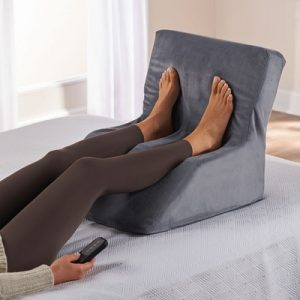 The Only In Bed Shiatsu Foot Massager - A heated Shiatsu foot massager designed for use while lying down in bed or on a sofa