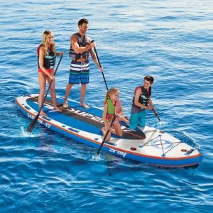 The Four Person Portable Paddle Board - The inflatable paddle board that comfortably fits four riders