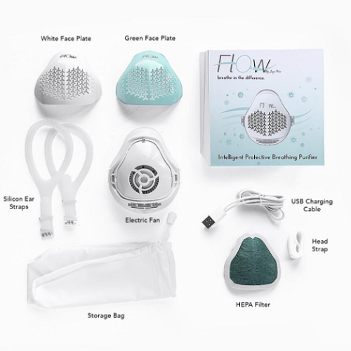 Face Mask with Micro Electric Fan and HEPA Filter1