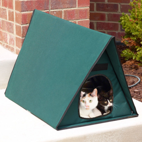 Outdoor Heated Multi Cat Shelter