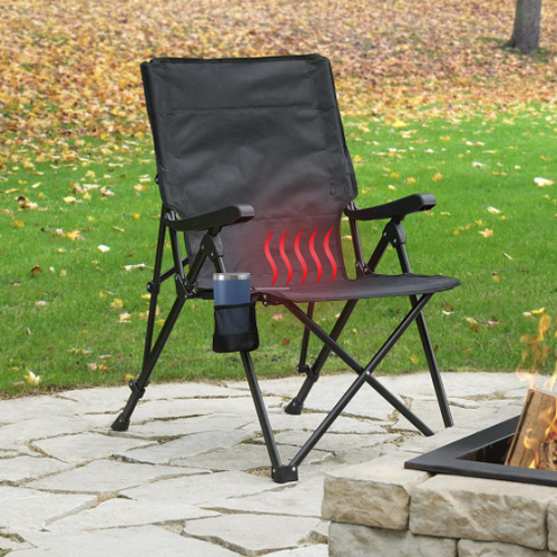 Heated Outdoor Folding Chair
